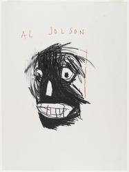 Jean-Michel Basquiat (American, 1960-1988). Al Jolson, 1981. Oilstick on paper, sheet: 24 x 18 in. (61 x 45.7 cm). Brooklyn Museum, Gift of Estelle Schwartz, 87.47. © artist or artist's estate