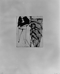 "Brice Marden (American, born 1938). Print from ""Etchings to Rexroth,"" 1986. Sugar lift, aquatint, open bite, drypoint and scraping on paper, sheet: 19 1/2 x 16 in. (49.5 x 40.6 cm). Brooklyn Museum, Purchased with funds given by Henry and Cheryl Welt, 87.54.15. © artist or artist's estate"
