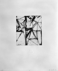 "Brice Marden (American, born 1938). Print from ""Etchings to Rexroth,"" 1986. Sugar lift, aquatint, open bite, drypoint and scraping on paper, sheet: 19 1/2 x 16 in. (49.5 x 40.6 cm). Brooklyn Museum, Purchased with funds given by Henry and Cheryl Welt, 87.54.18. © artist or artist's estate"