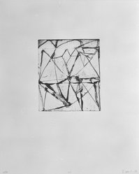 """Brice Marden (American, born 1938). Print from """"Etchings to Rexroth,"""" 1986. Sugar lift, aquatint, open bite, drypoint and scraping on paper, sheet: 19 1/2 x 16 in. (49.5 x 40.6 cm). Brooklyn Museum, Purchased with funds given by Henry and Cheryl Welt, 87.54.24. © artist or artist's estate"""