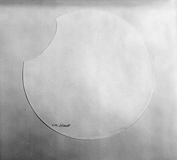 Sol LeWitt (American, 1928-2007). Torn Paper Piece R. 519, ca. 1975. White textured paper, diameter: 12 1/2 in. Brooklyn Museum, Gift of Estelle Schwartz, 88.134.2. © artist or artist's estate