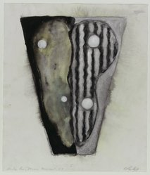 Carolanna Parlato (American, born 1961). Study for Moon Mirror, 1987. Ink, gouache, pastel, and graphite on paper, 18 x 15 7/8 in. (45.7 x 40.3 cm). Brooklyn Museum, Gift of Mitchell C. Cohen, 88.29. © artist or artist's estate
