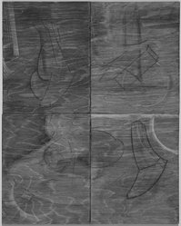 Jill Giegerich. Untitled, 1987. Graphite, charcoal, and encaustic on plywood, 22 x 18 in. (55.9 x 45.7 cm). Brooklyn Museum, Caroline A.L. Pratt Fund, 88.40. © artist or artist's estate