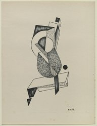 Paul Kelpe (American, born Germany, 1902-1985). [Untitled], 1937. Off-set lithograph on off-white wove paper, sheet: 11 15/16 x 9 3/16 in. (30.4 x 23.3 cm). Brooklyn Museum, Purchased with funds given by an anonymous donor, 88.54.15. © artist or artist's estate