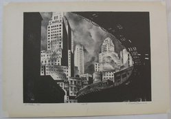 Mark Freeman (American, 1908-1975). Second Avenue El, 1933. Lithograph on wove paper, Sheet: 12 3/4 x 18 5/8 in. (32.4 x 47.3 cm). Brooklyn Museum, Frederick Loeser Fund, 1989.41. © artist or artist's estate