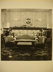 Barry M. Winiker (American, born 1953). Club International (Formerly the First Class Smoking Lounge on  the S.S. France). Gelatin silver photograph, Image: 9 1/2 x 9 1/2 in. (24.1 x 24.1 cm). Brooklyn Museum, Frank L. Babbott Fund, 1989.49. © artist or artist's estate