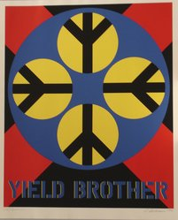 Robert Indiana (American, born 1928). 1962: Yield Brother, 1971. Serigraph, Sheet: 39 x 32 in. (99.1 x 81.3 cm). Brooklyn Museum, Anonymous gift, 1990.209.2. © artist or artist's estate