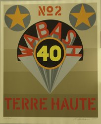 Robert Indiana (American, born 1928). 1969: Terre Haute No. 2, 1971. Serigraph, Sheet: 39 x 32 in. (99.1 x 81.3 cm). Brooklyn Museum, Anonymous gift, 1990.209.3. © artist or artist's estate