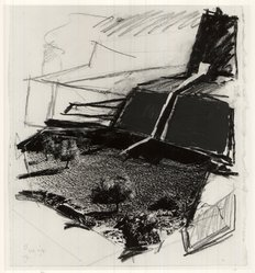 Jaacov Hefetz (Israeli, born 1946). Study for Sculpture: Border Drawing, 1986. Photographic collage, gouache, graphite on paper, 9 1/4 x 8 1/4 in. (23.5 x 21 cm). Brooklyn Museum, Anonymous gift, 1991.14.1. © artist or artist's estate