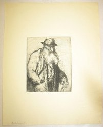 George Renouard (American, 1855-1954). The Patriarch, n.d. Etching on wove paper, sheet: 11 1/8 x 8 11/16 in. (28.3 x 22.1 cm). Brooklyn Museum, Gift of Gertrude W. Dennis, 1991.153.23. © artist or artist's estate