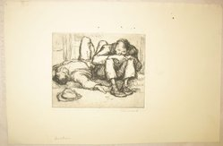 George Renouard (American, 1855-1954). Drinkers, n.d. Etching on wove paper, Sheet: 7 5/8 x 11 11/16 in. (19.4 x 29.7 cm). Brooklyn Museum, Gift of Gertrude W. Dennis, 1991.153.24. © artist or artist's estate