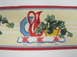 """Trimz Company, Inc.. 'Border Paper, """"China Shelf"""", Pattern 2058', ca. 1950. Printed paper, height: 3 in. (7.6 cm). Brooklyn Museum, Anonymous gift, 1992.97.1. © artist or artist's estate"""