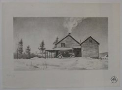 John C. Menihan (American, 1908-1992). Leon's House, ca. 1936. Lithograph on thin laid paper, Image: 4 7/8 x 8 11/16 in. (12.4 x 22.1 cm). Brooklyn Museum, Gift of the family of John C. Menihan, 1993.223.1. © artist or artist's estate