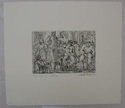 Philip Reisman (American, 1904-1992). The Clinic, 1927-1934. Etching on paper, sheet: 8 3/4 x 10 in. (22.2 x 25.4 cm). Brooklyn Museum, Gift of Louise Reisman, 1993.39.14. © artist or artist's estate