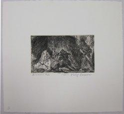 Philip Reisman (American, 1904-1992). Balaam's Ass, 1927-1934. Etching on paper, sheet: 8 13/16 x 9 3/8 in. (22.4 x 23.9 cm). Brooklyn Museum, Gift of Louise Reisman, 1993.39.3. © artist or artist's estate