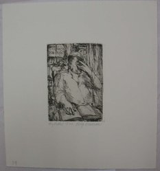 Philip Reisman (American, 1904-1992). My Father, 1927-1934. Etching on paper, sheet: 9 9/16 x 8 13/16 in. (24.3 x 22.4 cm). Brooklyn Museum, Gift of Louise Reisman, 1993.39.38. © artist or artist's estate