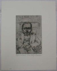Philip Reisman (American, 1904-1992). My Friend Smith, 1927-1934. Etching on paper, sheet: 10 5/8 x 8 9/16 in. (27 x 21.8 cm). Brooklyn Museum, Gift of Louise Reisman, 1993.39.39. © artist or artist's estate