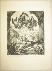 Philip Reisman (American, 1904-1992). Punishment of Heliodorus, 1927-1934. Etching on paper, sheet: 12 13/16 x 9 5/16 in. (32.6 x 23.6 cm). Brooklyn Museum, Gift of Louise Reisman, 1993.39.46. © artist or artist's estate