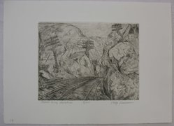 Philip Reisman (American, 1904-1992). Storm King Mountain, n.d. Etching on paper, sheet: 9 1/2 x 13 1/8 in. (24.1 x 33.3 cm). Brooklyn Museum, Gift of Louise Reisman, 1993.39.52. © artist or artist's estate