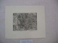 Philip Reisman (American, 1904-1992). Memories of My Childhood, n.d. Etching on paper, sheet: 10 13/16 x 13 1/4 in. (27.5 x 33.6 cm). Brooklyn Museum, Gift of Louise Reisman, 1993.39.60. © artist or artist's estate