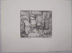 Philip Reisman (American, 1904-1992). Bed Time, 1927-1934. Etching on paper, sheet: 9 5/8 x 13 5/16 in. (24.4 x 33.8 cm). Brooklyn Museum, Gift of Louise Reisman, 1993.39.7. © artist or artist's estate