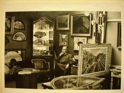 Sidney Kerner (American, 1920-2013). Paris Flea Market, Man in Tent, 1969. Gelatin silver photograph, sheet: 10 3/4 x 14 in. Brooklyn Museum, Gift of the artist, 1995.128.4. © artist or artist's estate