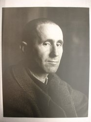 Joseph Breitenbach (American, 1896-1984). Bertolt Brecht, Paris, 1938, ca. 1968. Toned gelatin silver photograph, image/sheet: 13 7/8 x 11 in. (35.2 x 27.9 cm). Brooklyn Museum, Gift of Peter C. Jones, 1995.165.3. © artist or artist's estate