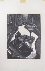 John P. Heins (American, 1896-1969). Venetian Still Life, n.d. Wood engraving on wove paper, Sheet: 9 11/16 x 6 1/4 in. (24.6 x 15.9 cm). Brooklyn Museum, Gift of Julian and Elaine Hyman, 1995.34.2. © artist or artist's estate