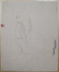 James Brooks (American, 1906-1992). [Untitled] (Standing Draped Body), n.d. Graphite on paper, Sheet: 16 15/16 x 13 13/16 in. (43 x 35.1 cm). Brooklyn Museum, Gift of Charlotte Park Brooks in memory of her husband, James David Brooks, 1996.54.111. © artist or artist's estate