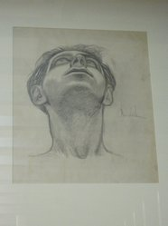 James Brooks (American, 1906-1992). [Untitled] (Head of a Man). Charcoal and graphite on paper, 16 7/8 x 13 7/8 in. (42.7 x 35.3 cm). Brooklyn Museum, Gift of Charlotte Park Brooks in memory of her husband, James David Brooks, 1996.54.21. © artist or artist's estate