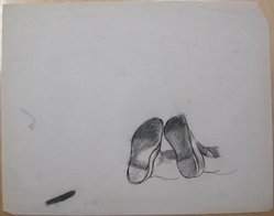 James Brooks (American, 1906-1992). [Untitled] (View of Soles), n.d. Ink and pastel (?) on paper, Sheet: 18 13/16 x 23 15/16 in. (47.8 x 60.8 cm). Brooklyn Museum, Gift of Charlotte Park Brooks in memory of her husband, James David Brooks, 1996.54.227. © artist or artist's estate