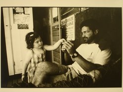 Rosalie Winard. Ben Kramer and His Niece, Zoe, Hornby Island, British Columbia, from the Born Electrical Series, 1995. Gelatin silver photograph, image: 7 3/4 x 11 1/2 in. (19.7 x 29.3 cm). Brooklyn Museum, Gift of Mary McClean, 1997.98.1. © artist or artist's estate