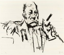Jack Levine (American, 1915-2010). Texas Delegate, 1970. Lithograph, Image: 16 x 19 1/2 in. (40.6 x 49.5 cm). Brooklyn Museum, Gift of Peter R. Blum, 1998.191.13. © artist or artist's estate