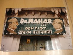 Marilynn Gelfman (American, born 1939). Udaipur, Rajasthan, India (Dentist Sign), 1997. Chromogenic dye coupler photograph, image/sheet: 16 x 11 in. (40.6 x 27.9 cm). Brooklyn Museum, Gift of the artist, 1998.9.2. © artist or artist's estate