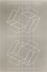 Josef Albers (American, 1888-1976). White Embossing on Gray II, 1971. 1 color line cut embossed, sheet: 26 1/2 x 20 1/8 in.  (67.3 x 51.1 cm). Brooklyn Museum, Gift of Leslie A. Feely, 2000.130.1. © artist or artist's estate