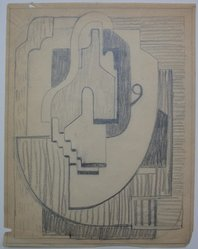 Blanche Lazzell (American, 1879-1956). Sketch for Abstract Composition, 1924. Graphite on paper, Sheet: 10 5/8 x 8 1/4 in. (27 x 21 cm). Brooklyn Museum, Gift of Dr. Abram Kanof and Theodore Keel, by exchange, Charles Stewart Smith Memorial Fund, and Dick S. Ramsay Fund, 2006.43.11. © artist or artist's estate