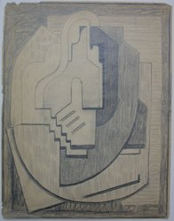 Blanche Lazzell (American, 1879-1956). Sketch for Abstract Composition, 1924. Graphite on paper, Sheet: 10 5/8 x 8 1/4 in. (27 x 21 cm). Brooklyn Museum, Gift of Dr. Abram Kanof and Theodore Keel, by exchange, Charles Stewart Smith Memorial Fund, and Dick S. Ramsay Fund, 2006.43.13. © artist or artist's estate