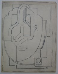Blanche Lazzell (American, 1879-1956). Sketch for Abstract Composition, 1924. Graphite on paper, Sheet: 10 5/8 x 8 1/4 in. (27 x 21 cm). Brooklyn Museum, Gift of Dr. Abram Kanof and Theodore Keel, by exchange, Charles Stewart Smith Memorial Fund, and Dick S. Ramsay Fund, 2006.43.9. © artist or artist's estate