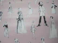 "Hilda Glasgow. Wallpaper, ""Tres Chic"" pattern, Designed 2011; printed 2012. Printed vinyl Brooklyn Museum, Gift of Flavor Paper, 2012.61.4a-b. © artist or artist's estate"