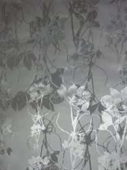 "Jill Malek (American, born 1976). Wallpaper, ""Frequencies"" Line, ""Sleeping Briar Rose"" Pattern, 2007. Printed (silk-screened) paper, a: 31 x 30 5/16 in. (78.7 x 77 cm). Brooklyn Museum, Gift of Jill Malek, 2012.66.2a-b. © artist or artist's estate"
