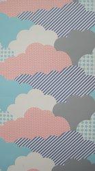 "Aimée Wilder (American, born 1979). Wallpaper, ""Clouds"" pattern, designed 2008, released 2009. Printed paper, a: 24 x 27 1/8 in. (61 x 68.9 cm). Brooklyn Museum, Gift of Aimée Wilder, 2012.67.7a-e. © artist or artist's estate"