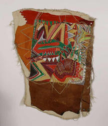 Frank Smith (American, born 1935). Banner for a New Black Nation, 1978. Acrylic, thread, leather and mixed media on cotton, 28 x 34 1/2 in. (71.1 x 87.6 cm). Brooklyn Museum, Gift of R.M. Atwater, Anna Wolfrom Dove, Alice Fiebiger, Joseph Fiebiger, Belle Campbell Harriss, and Emma L. Hyde, by exchange, Designated Purchase Fund, Mary Smith Dorward Fund, Dick S. Ramsay Fund, and  Carll H. de Silver Fund, 2012.80.40. © artist or artist's estate