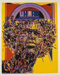 Nelson Stevens (American, born 1938). Uhuru, 1971. Screenprint on paper, Sheet: 40 x 30 in. (101.6 x 76.2 cm). Brooklyn Museum, Gift of R.M. Atwater, Anna Wolfrom Dove, Alice Fiebiger, Joseph Fiebiger, Belle Campbell Harriss, and Emma L. Hyde, by exchange, Designated Purchase Fund, Mary Smith Dorward Fund, Dick S. Ramsay Fund, and  Carll H. de Silver Fund, 2012.80.41. © artist or artist's estate