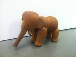 Kay Bojesen (Danish, 1886-1958). Elephant, Designed 1953. Oak, 5 x 3 5/8 x 6 1/4 in. (12.7 x 9.2 x 15.9 cm). Brooklyn Museum, Gift of Dr. Barry R. Harwood, 2013.44. © artist or artist's estate