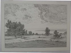 Bolton Coit Brown (American, 1864-1936). The Great River, n.d. Lithograph, Sheet: 9 13/16 x 13 1/4 in. (25 x 33.6 cm). Brooklyn Museum, Gift of Mrs. A. Augustus Healy, 26.541. © artist or artist's estate