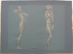 J. Mortimer Lichtenauer (American, 1876-1966). Two Nudes, n.d. Graphite and pastel on paper, sheet: 13 1/8 x 17 5/8 in. (33.3 x 44.8 cm). Brooklyn Museum, Gift of the artist, 29.60. © artist or artist's estate