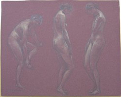 J. Mortimer Lichtenauer (American, 1876-1966). Three Nudes, n.d. Graphite and pastel on paper, sheet: 12 3/16 x 15 1/8 in. (31 x 38.4 cm). Brooklyn Museum, Gift of the artist, 29.61. © artist or artist's estate