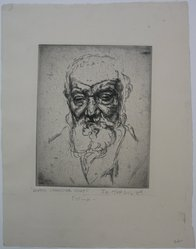 Joseph Margulies (American, 1896-1984). Ghetto Character Study, n.d. Etching on cream-colored wove paper, Sheet: 12 7/8 x 10 3/16 in. (32.7 x 25.9 cm). Brooklyn Museum, Gift of the Brooklyn Society of Ethical Culture, 31.215. © artist or artist's estate