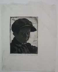 Joseph Margulies (American, 1896-1984). Smiling Ghetto Urchin, n.d. Etching on laid paper, Sheet (irregular): 11 3/4 x 9 in. (29.8 x 22.9 cm). Brooklyn Museum, Gift of the Brooklyn Society of Ethical Culture, 31.221. © artist or artist's estate