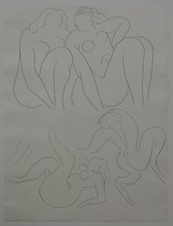 "Henri Matisse (French, 1869-1954). [Untitled] (Headpiece for the Poem ""L'Après-Midi d'un Faune""), 1932. Etching on wove paper, Sheet: 13 x 9 3/4 in. (33 x 24.8 cm). Brooklyn Museum, Carll H. de Silver Fund, 36.67.14. © artist or artist's estate"